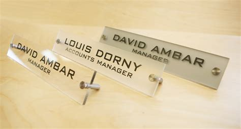 office desk name plates personalized office desk name plate sign modern stainless