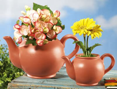 Large Teapot Planter by Collections Etc Unique Gifts Home And Garden Decor And
