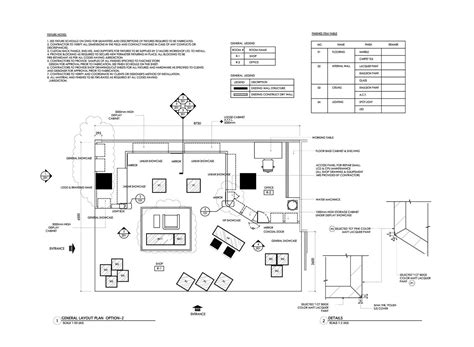 yrenec interior design construction drawings and millwork