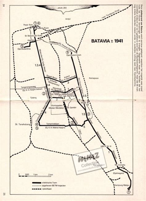 Peta Antik Batavia Jadoel book buku langka trams en tramlijnen de