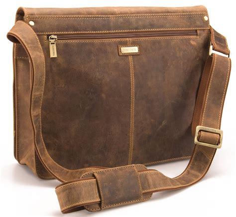 A L I V E Belgiveau Bag visconti large distressed real leather messenger shoulder