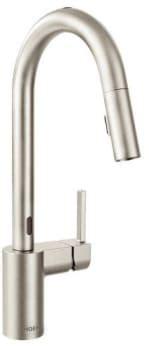 7565ec moen align series motionsense kitchen faucet chrome moen 7565x single handle kitchen pull down faucet with 2