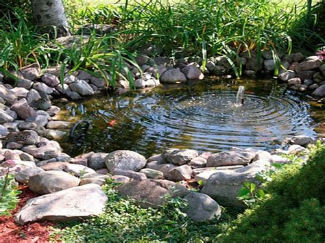 backyard water feature powered water
