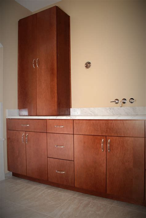 hand  jacomo bathroom vanity  linen cabinet