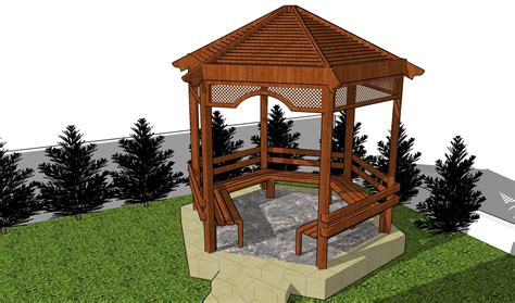 Plans To Build A Octagon Picnic Table by Picnic Shelter Plans Diy Free Plans Coop Shed Playhouse