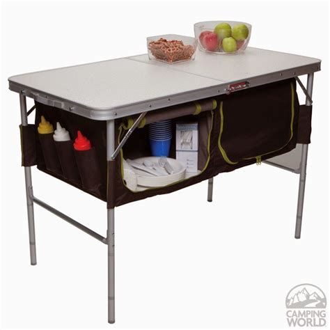 Folding Table With Storage Tiny Yellow Teardrop Five Best Folding Tables For Teardrop Trailers