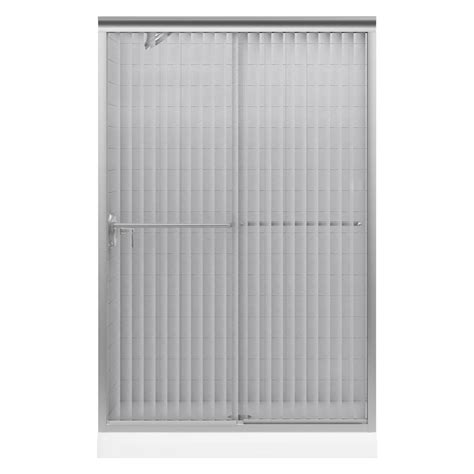 Kohler Frameless Sliding Shower Doors Kohler Fluence 47 5 8 In X 70 5 16 In Semi Frameless Sliding Shower Door In Matte Nickel With