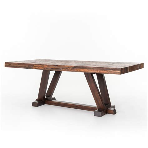max dining table rustic reclaimed wood bina max dining table 84 quot zin home