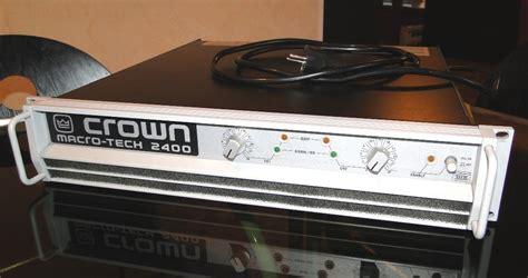 Power Lifier Crown Macro Tech crown macro tech 2400 image 195374 audiofanzine