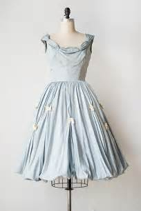 Vintage 1950s blue party dress with butterflies heart all a flutter