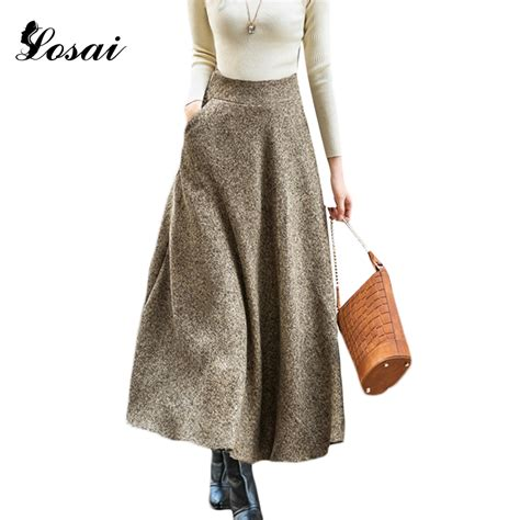 7 Favorite Winter Skirts by Aliexpress Buy Autumn Winter Wool Skirts For