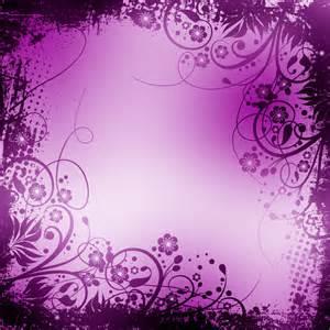 fond scrapbooking motif floral noir et violet