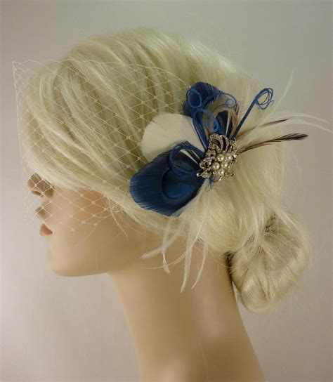 Wedding Hair With Brooch by Bridal Feather Fascinator With Brooch Bridal Fascinator