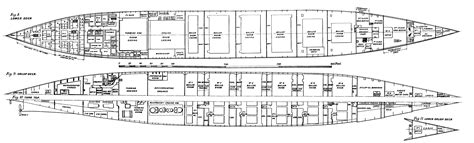 titanic floor plan titanic deck plans side view