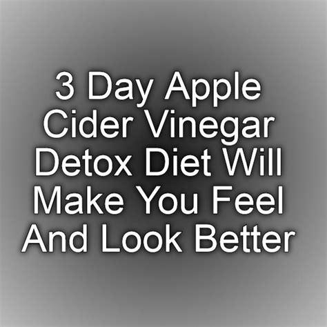 One Day Apple Detox Diet by 3 Day Apple Cider Vinegar Detox Diet Will Make You Feel