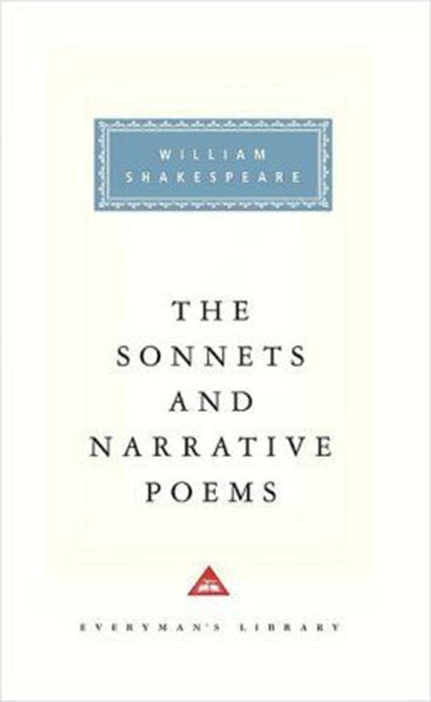 the sonnets books the sonnets and narrative poems by william shakespeare