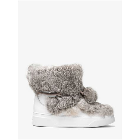 Mickael Kors Narla michael kors nala fur and calf hair high top sneaker in