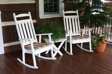 Amish Poly Outdoor Furniture by Amish Outdoor Furniture Classic Poly Wood Porch Rocker
