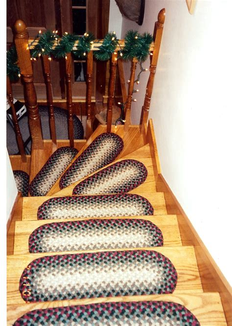 braided stair tread rugs slippery wood stairs thenest