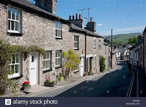 Cottages Kirkby Lonsdale by Row Of Cottages Mitchelgate Kirkby Lonsdale Cumbria Uk United Stock Photo Royalty Free