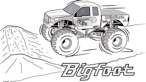 Bigfoot Truck Coloring Pages 20 free printable truck coloring pages