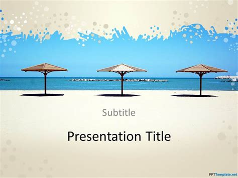 free beach ppt template