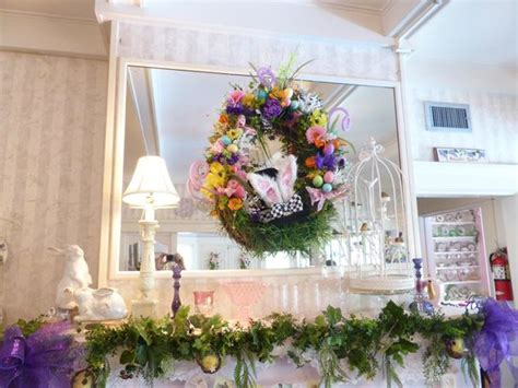 lavender and lace tea room dini ng room wreath fireplace picture of lavender n lace tea room lake alfred