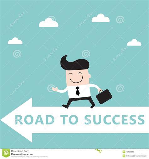 Success L by Businessman Goes To The Goal Success Achievement Stock
