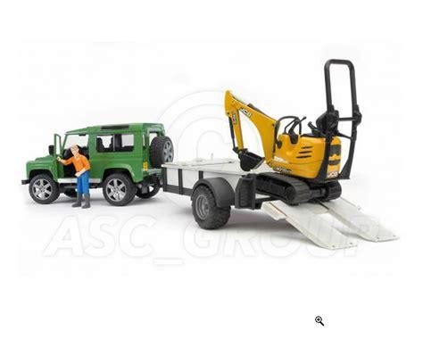 land rover bruder bruder toys 02593 land rover defender trailer micro