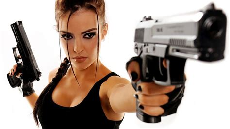 wallpaper girl and gun girls with guns wallpaper wallpapersafari