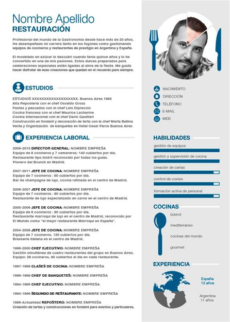 Modelo Curriculum Vitae Cocinero Curriculum Vitae Ejemplo 1 Comman