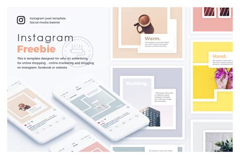 get layout on instagram freebie abstract instagram layout free design resources