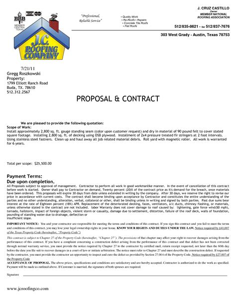 sle bid sheet template roofing how to understand a roofing contract or