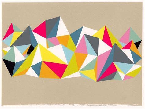 geometric pattern wall canvas abstract art geometric print wall art triangle