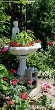 broken bird bath plant it empress of dirt