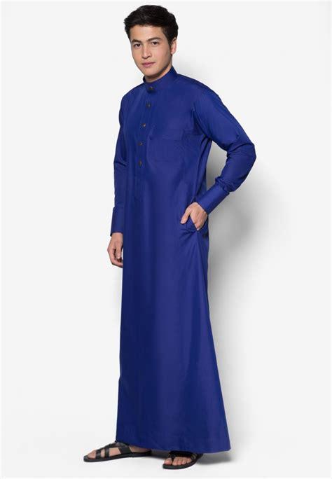 Baju Melayu Slim Fit Navy Blue jubah a slim fit royal blue aa2005jl amar amran boutique
