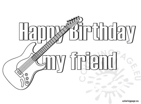happy birthday best friend coloring pages happy birthday friend coloring pages for preschool happy