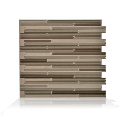 smart tiles bellagio keystone 10 06 in w x 10 00 in h peel and stick decorative mosaic wall smart tiles bellagio keystone 10 06 in w x 10 in h peel