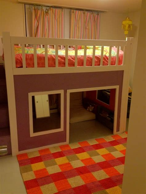 Playhouse Loft Bed by White Playhouse Loft Bed Diy Projects