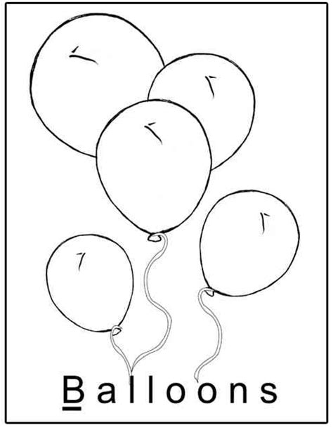 balloons coloring pages preschool letter b activities preschool lesson plans