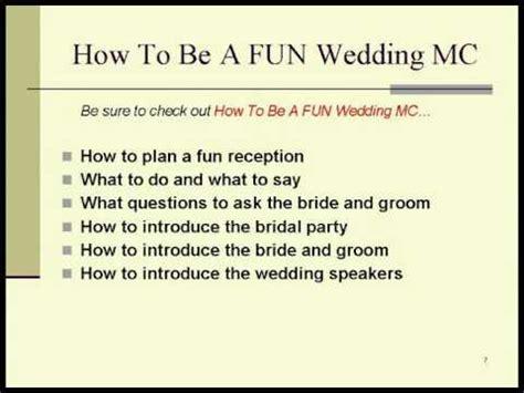 Wedding Mc Script by Wedding Mc Tips