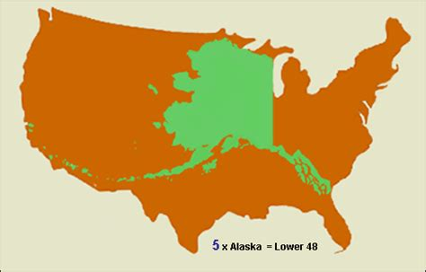 alaska map overlay continental us introduction