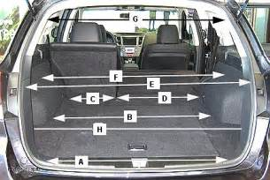 Subaru Outback Boot Capacity Toyota 4runner Cargo Dimensions Autos Post