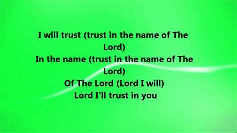fred hammond i will trust fred hammond i will trust lyrics chords chordify