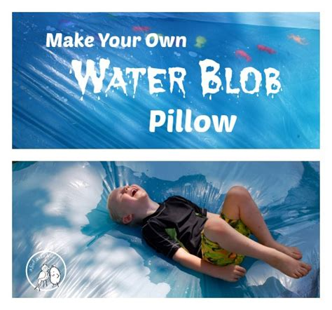 Blob Pillow water blob pillow tutorial