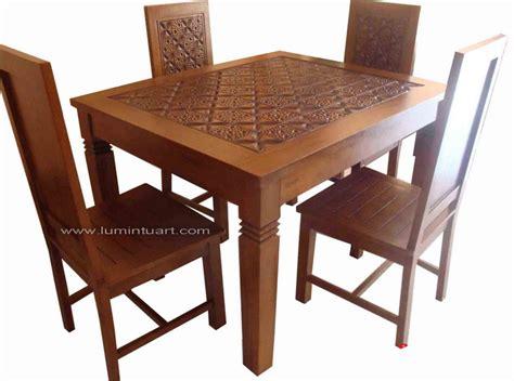 Meja Makan Coin Mebel Jepara Meja Makan 4 Kursi kursi meja makan jati jepara minimalis meteor jati jepara ud lumintu gallery furniture