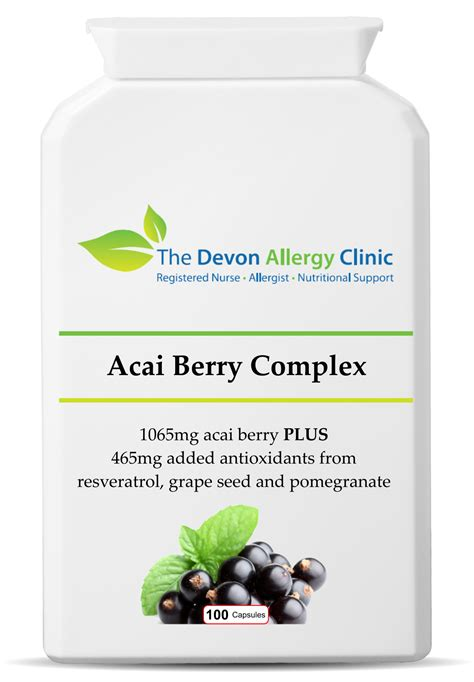 acai berry supreme acai berry complex the allergy clinic