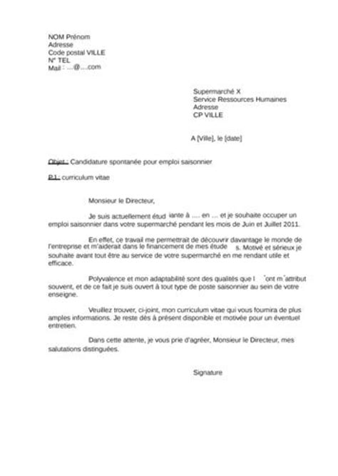 Lettre De Motivation Emploi Week End Lettre De Motivation Emploi 233 Tudiant Supermarch 233 Application Cover Letter