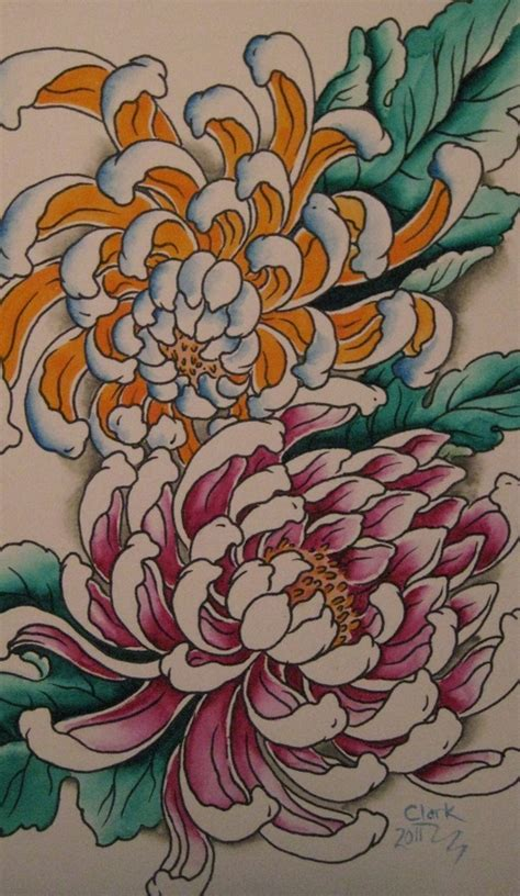 japanese tattoo flower seasons 61 best images about crizanteme on pinterest spider