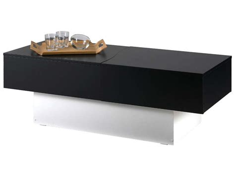 Table Basse Bar Conforama 6985 by Table Basse City Box Coloris Noir Blanc Vente De Table
